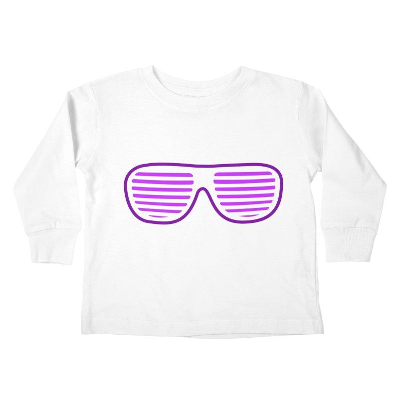 Purple Glasses Kids Toddler Longsleeve T-Shirt by 2Dyzain's Artist Shop
