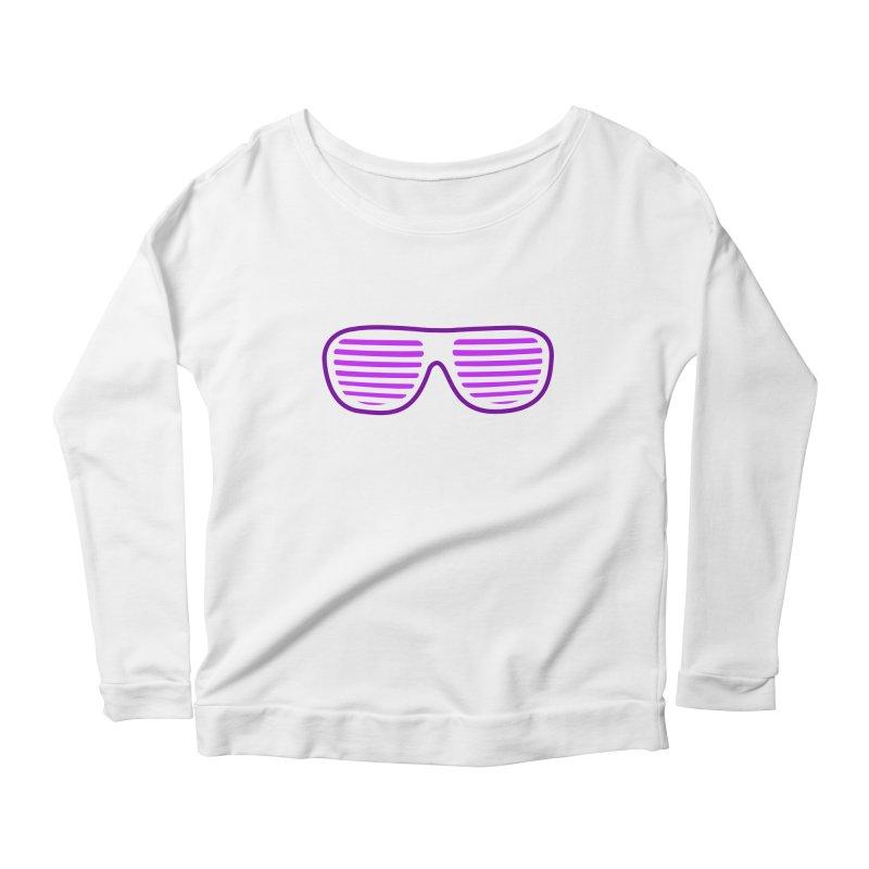 Purple Glasses Women's Longsleeve Scoopneck  by 2Dyzain's Artist Shop