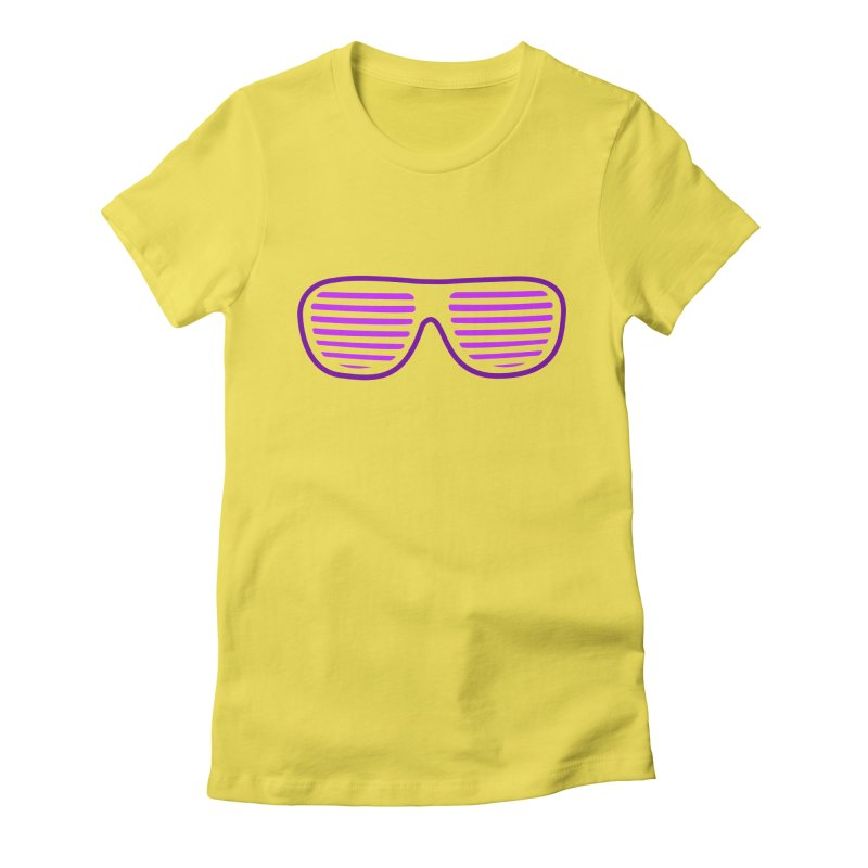 Purple Glasses Women's Fitted T-Shirt by 2Dyzain's Artist Shop
