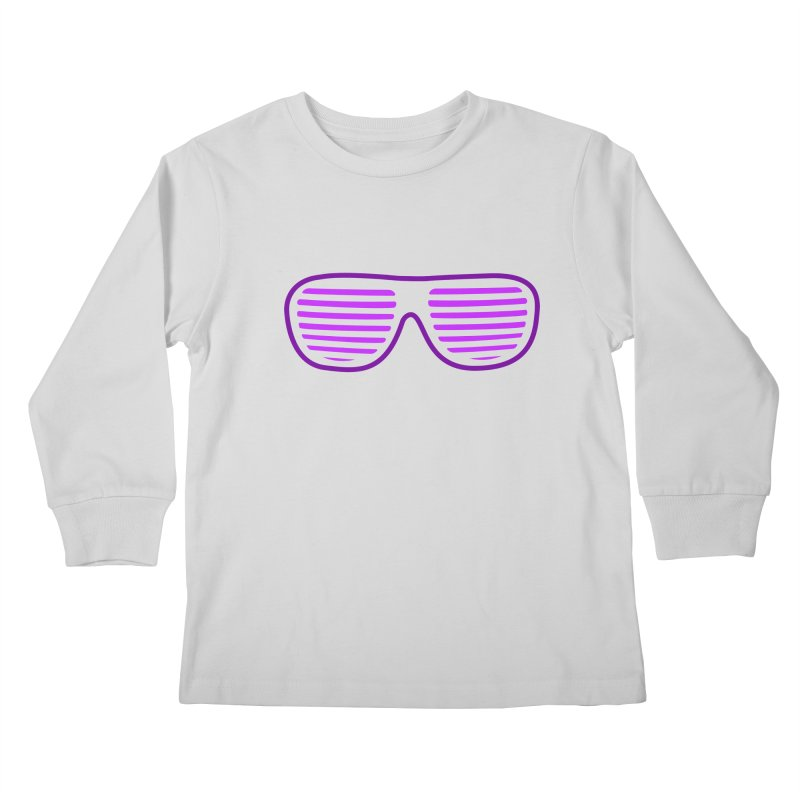 Purple Glasses Kids Longsleeve T-Shirt by 2Dyzain's Artist Shop