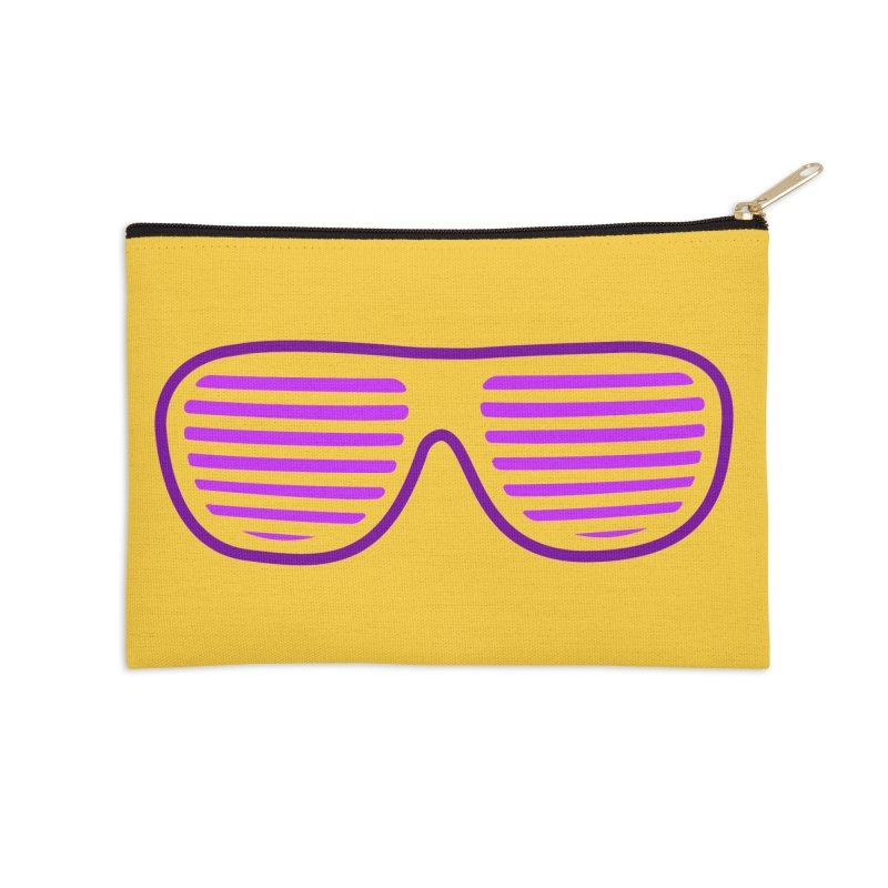 Purple Glasses Accessories Zip Pouch by 2Dyzain's Artist Shop