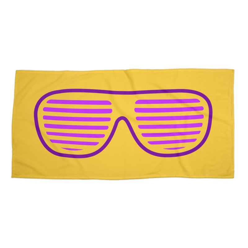 Purple Glasses Accessories Beach Towel by 2Dyzain's Artist Shop