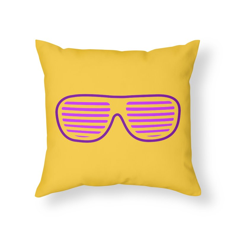 Purple Glasses Home Throw Pillow by 2Dyzain's Artist Shop