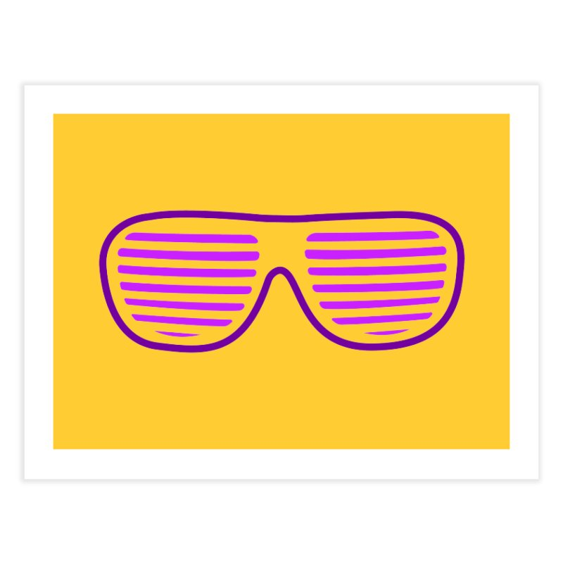 Purple Glasses Home Fine Art Print by 2Dyzain's Artist Shop