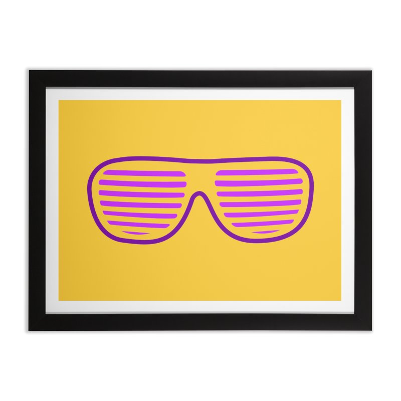 Purple Glasses Home Framed Fine Art Print by 2Dyzain's Artist Shop