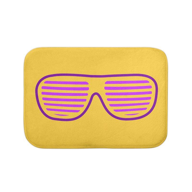 Purple Glasses Home Bath Mat by 2Dyzain's Artist Shop