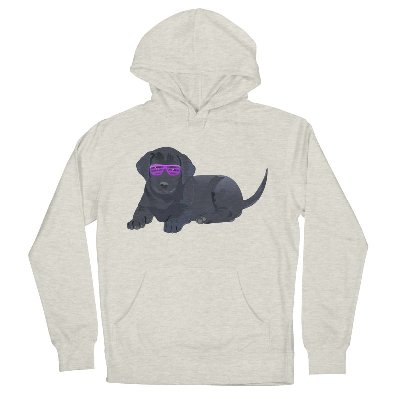 Black Lab Puppy with Purple Glasses Women's Pullover Hoody by 2Dyzain's Artist Shop