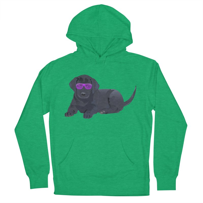 Black Lab Puppy with Purple Glasses Men's Pullover Hoody by 2Dyzain's Artist Shop