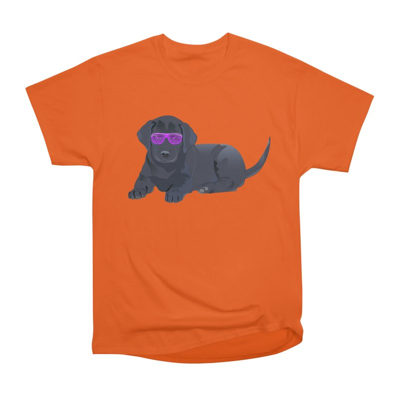 Black Lab Puppy with Purple Glasses Women's Classic Unisex T-Shirt by 2Dyzain's Artist Shop