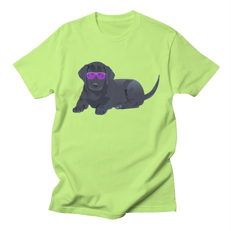 Black Lab Puppy with Purple Glasses Men's T-Shirt by 2Dyzain's Artist Shop
