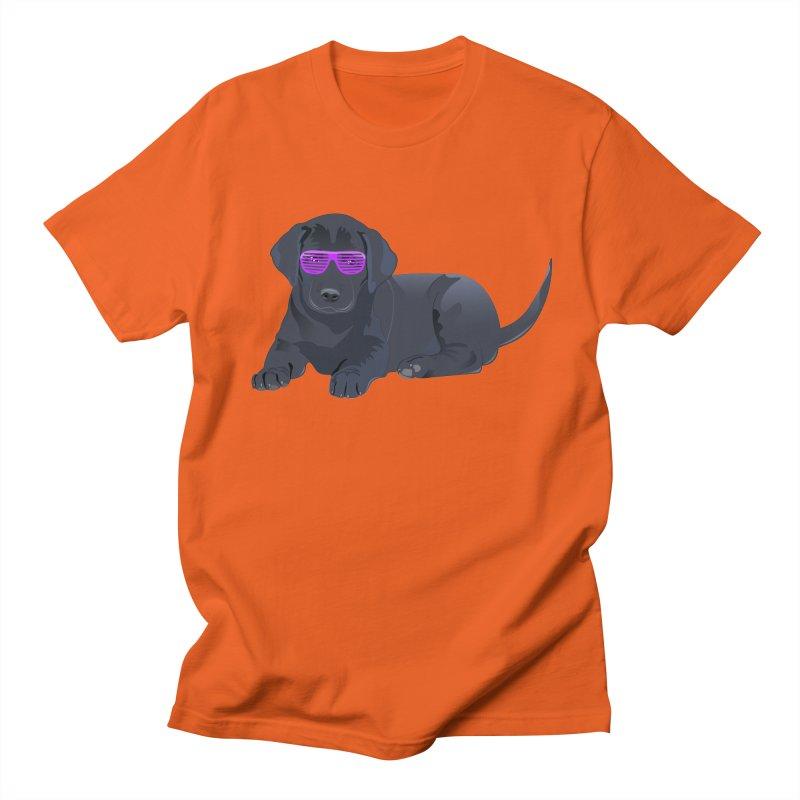 Black Lab Puppy with Purple Glasses Women's Unisex T-Shirt by 2Dyzain's Artist Shop