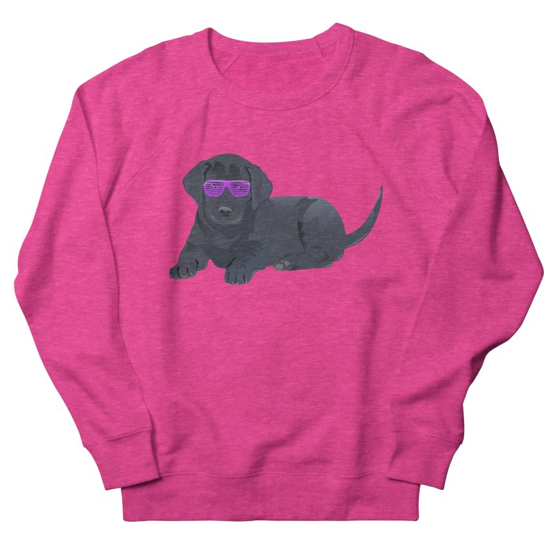 Black Lab Puppy with Purple Glasses Women's Sweatshirt by 2Dyzain's Artist Shop