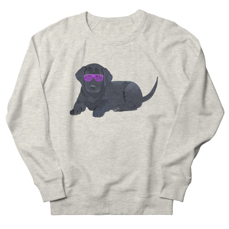Black Lab Puppy with Purple Glasses Men's Sweatshirt by 2Dyzain's Artist Shop
