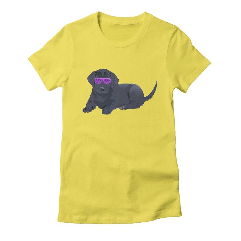 Black Lab Puppy with Purple Glasses Women's Lounge Pants by 2Dyzain's Artist Shop