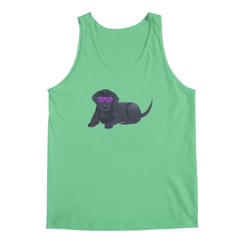 Black Lab Puppy with Purple Glasses Men's Tank by 2Dyzain's Artist Shop