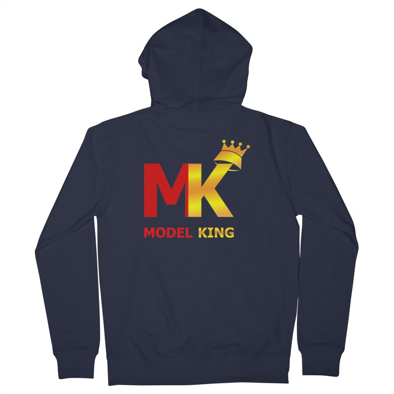 Model King Men's Zip-Up Hoody by 2Dyzain's Artist Shop