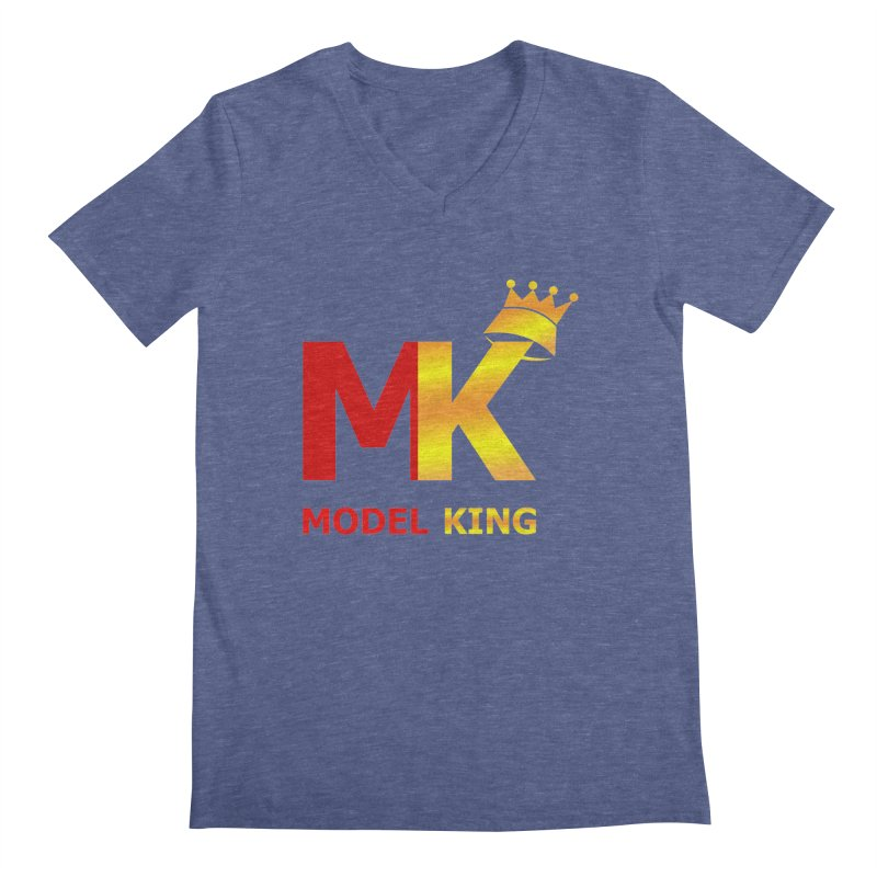 Model King Men's V-Neck by 2Dyzain's Artist Shop