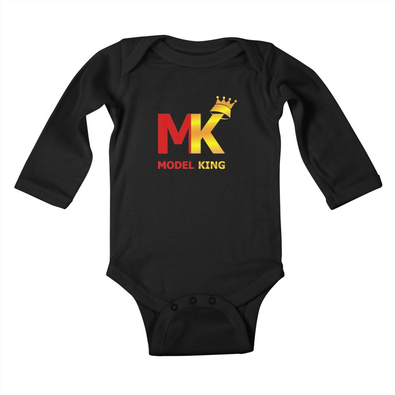 Model King Kids Baby Longsleeve Bodysuit by 2Dyzain's Artist Shop