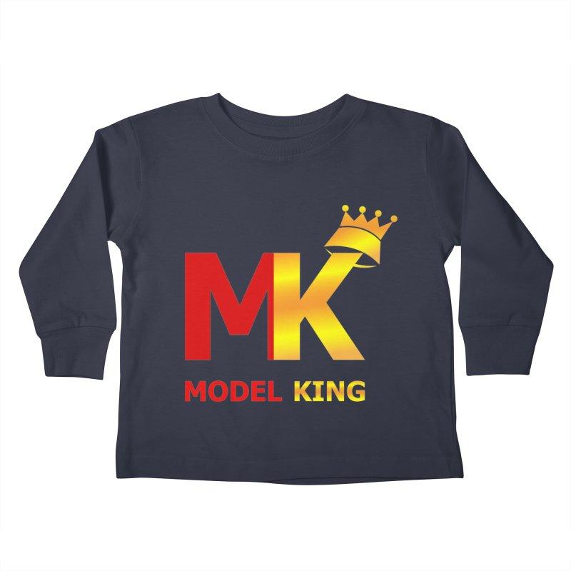 Model King Kids Toddler Longsleeve T-Shirt by 2Dyzain's Artist Shop