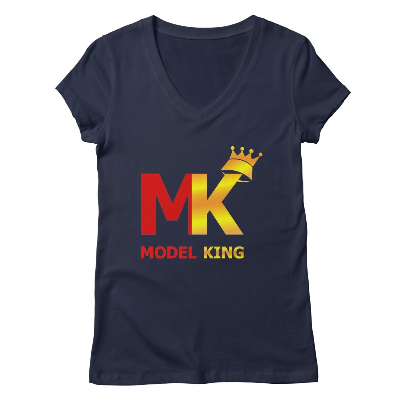 Model King Women's V-Neck by 2Dyzain's Artist Shop