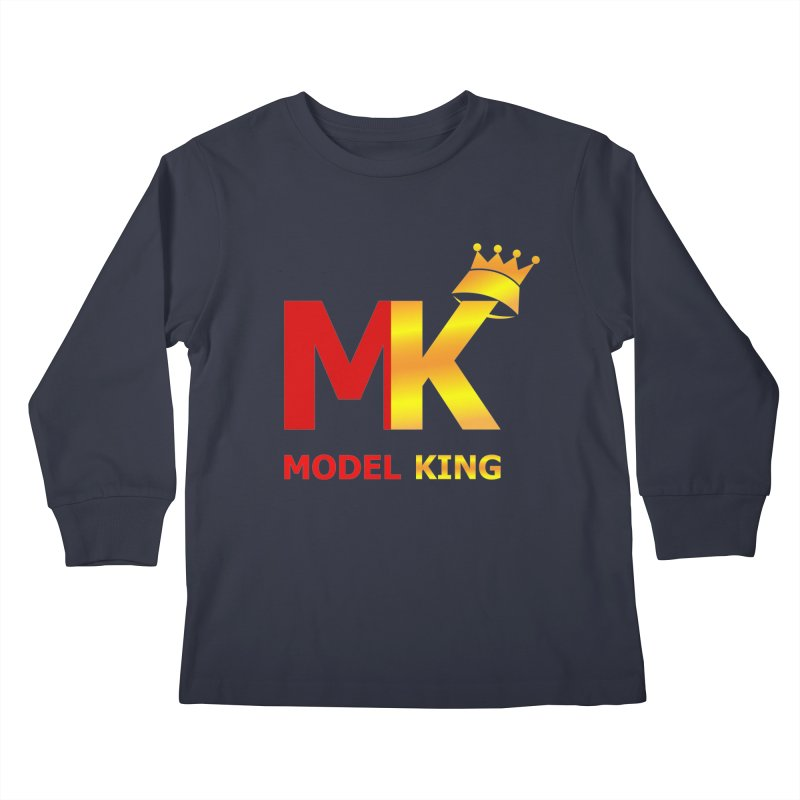 Model King Kids Longsleeve T-Shirt by 2Dyzain's Artist Shop