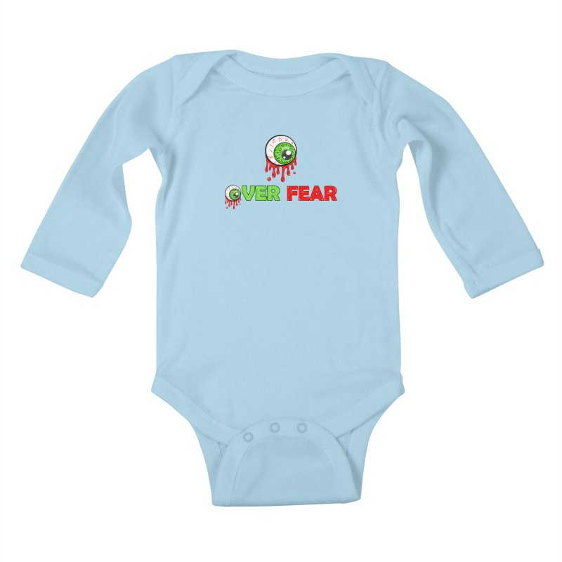 Over Fear Kids Baby Longsleeve Bodysuit by 2Dyzain's Artist Shop