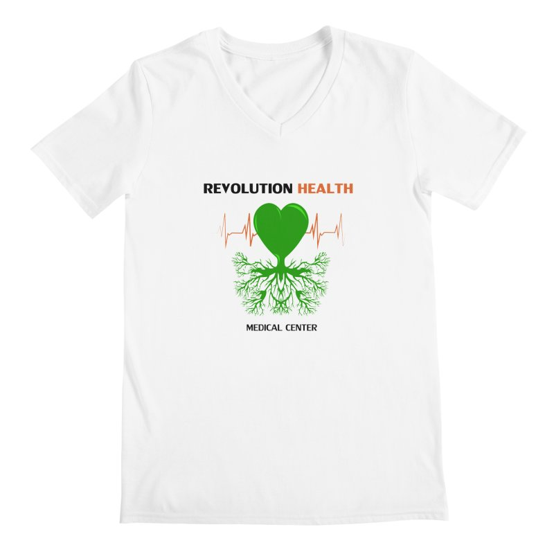 Revolution Health Medical Center Men's V-Neck by 2Dyzain's Artist Shop