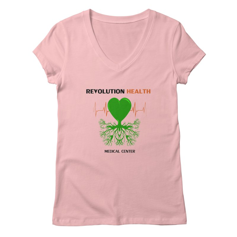 Revolution Health Medical Center Women's V-Neck by 2Dyzain's Artist Shop