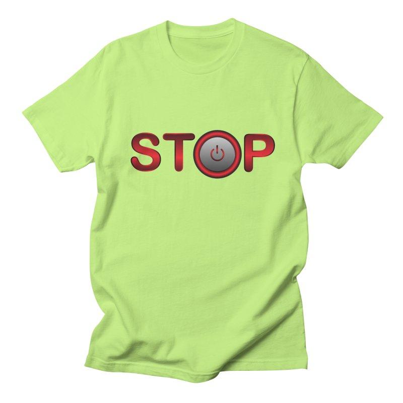 STOP Men's T-shirt by 2Dyzain's Artist Shop