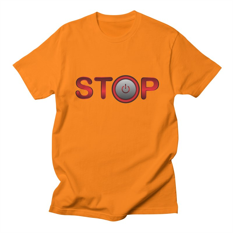 STOP Men's T-shirt by 2Dyzain's Artist Shop
