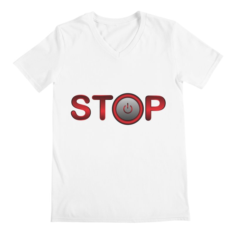 STOP Men's V-Neck by 2Dyzain's Artist Shop