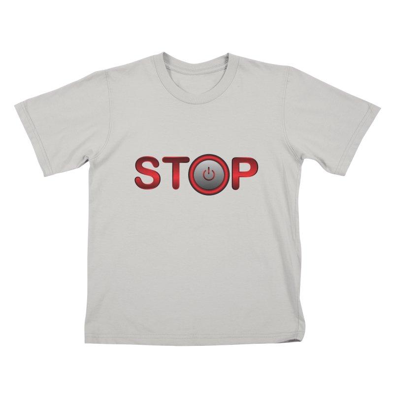 STOP Kids T-Shirt by 2Dyzain's Artist Shop