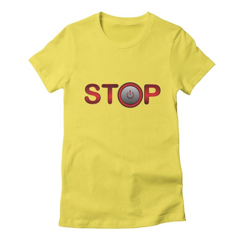 STOP Women's Lounge Pants by 2Dyzain's Artist Shop