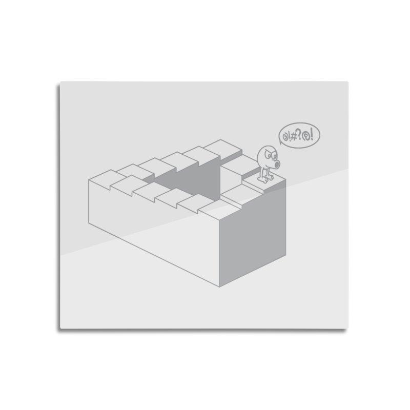 @!#?@! (Qbert) Home Mounted Aluminum Print by 2pstart's Artist Shop