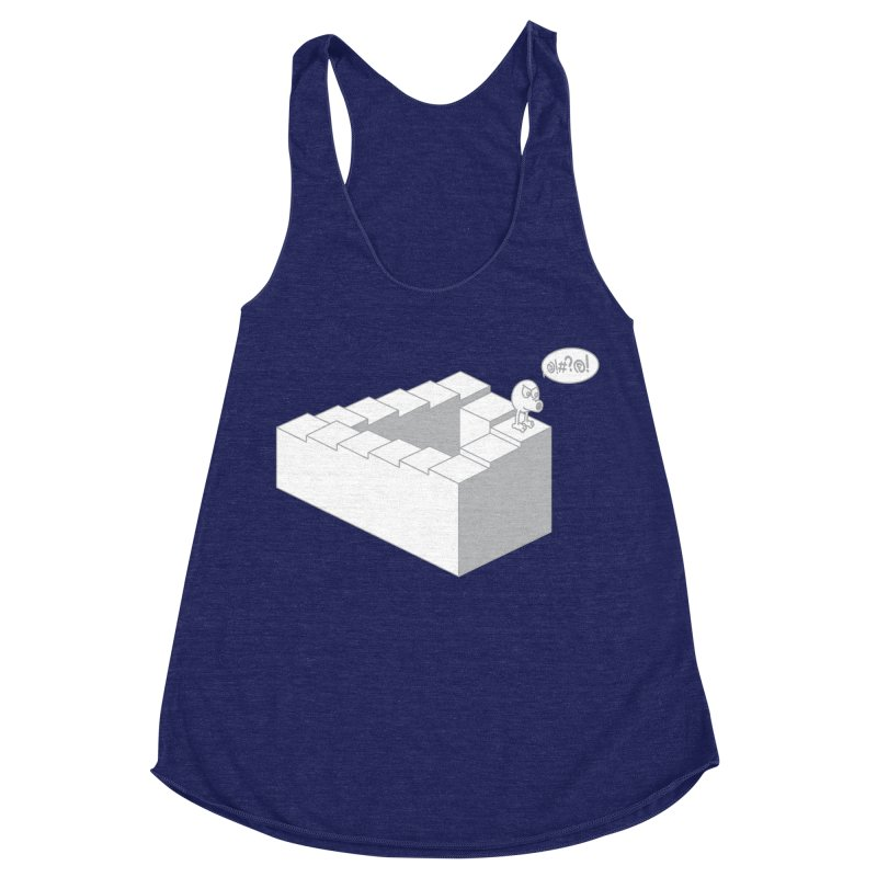 @!#?@! (Qbert) Women's Racerback Triblend Tank by 2pstart's Artist Shop