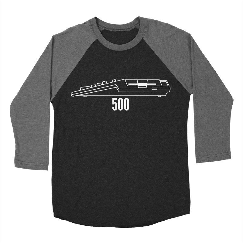 Commodore Amiga 500 Men's Baseball Triblend Longsleeve T-Shirt by 2pxSolidBlack