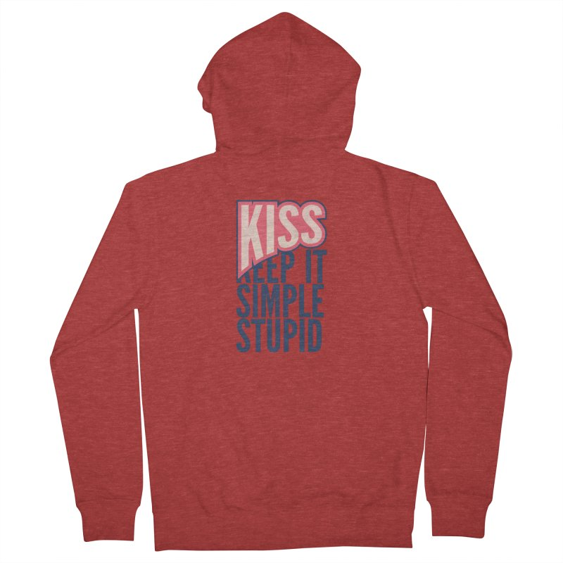 KISS - Keep It Simple Stupid Men's Zip-Up Hoody by 2pxSolidBlack