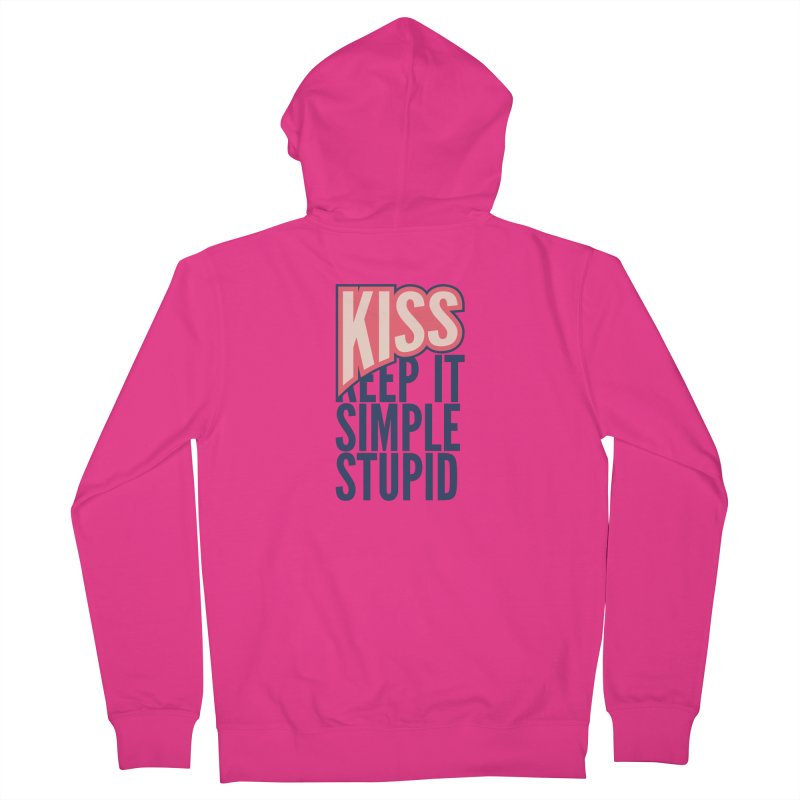 KISS - Keep It Simple Stupid Men's French Terry Zip-Up Hoody by 2pxSolidBlack