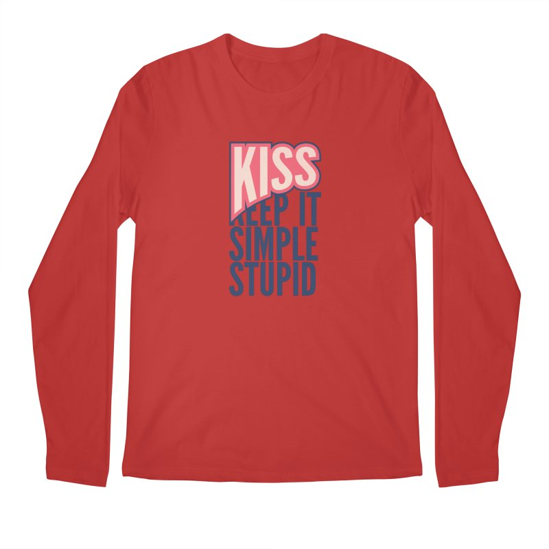 KISS - Keep It Simple Stupid Men's Regular Longsleeve T-Shirt by 2pxSolidBlack