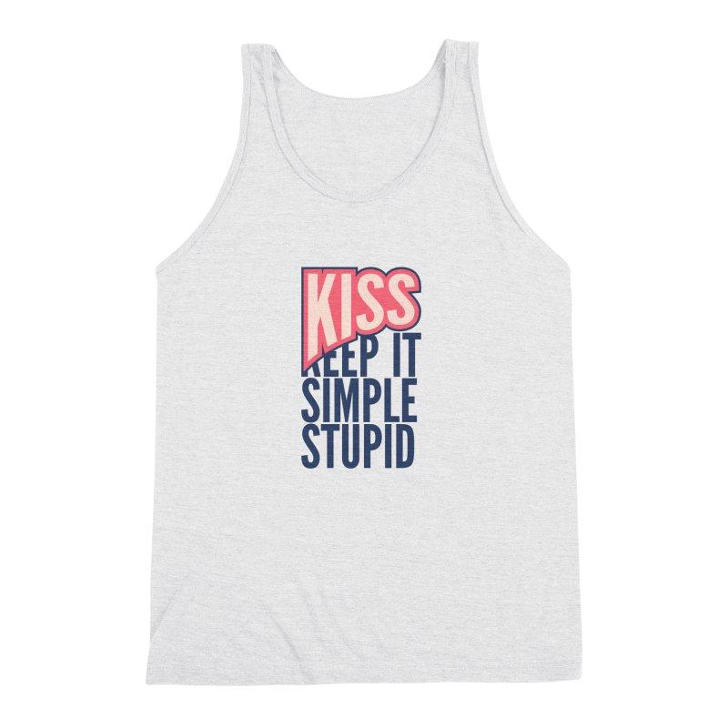 KISS - Keep It Simple Stupid Men's Triblend Tank by 2pxSolidBlack