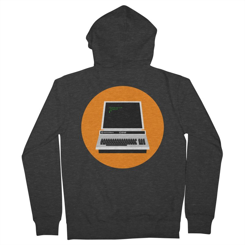 Commodore PET Men's French Terry Zip-Up Hoody by 2pxSolidBlack