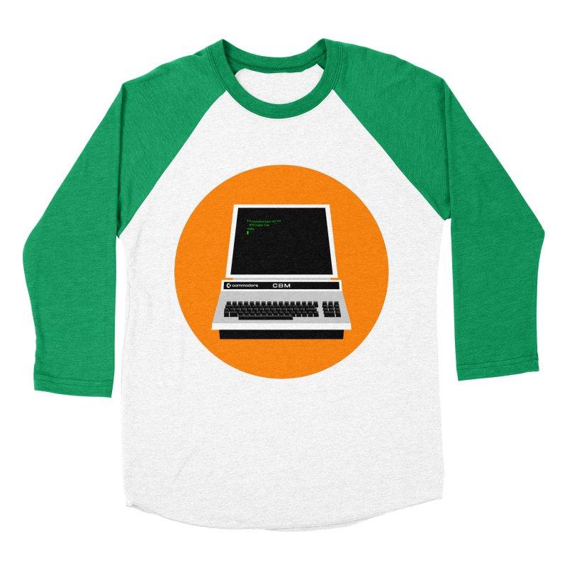 Commodore PET Women's Baseball Triblend Longsleeve T-Shirt by 2pxSolidBlack