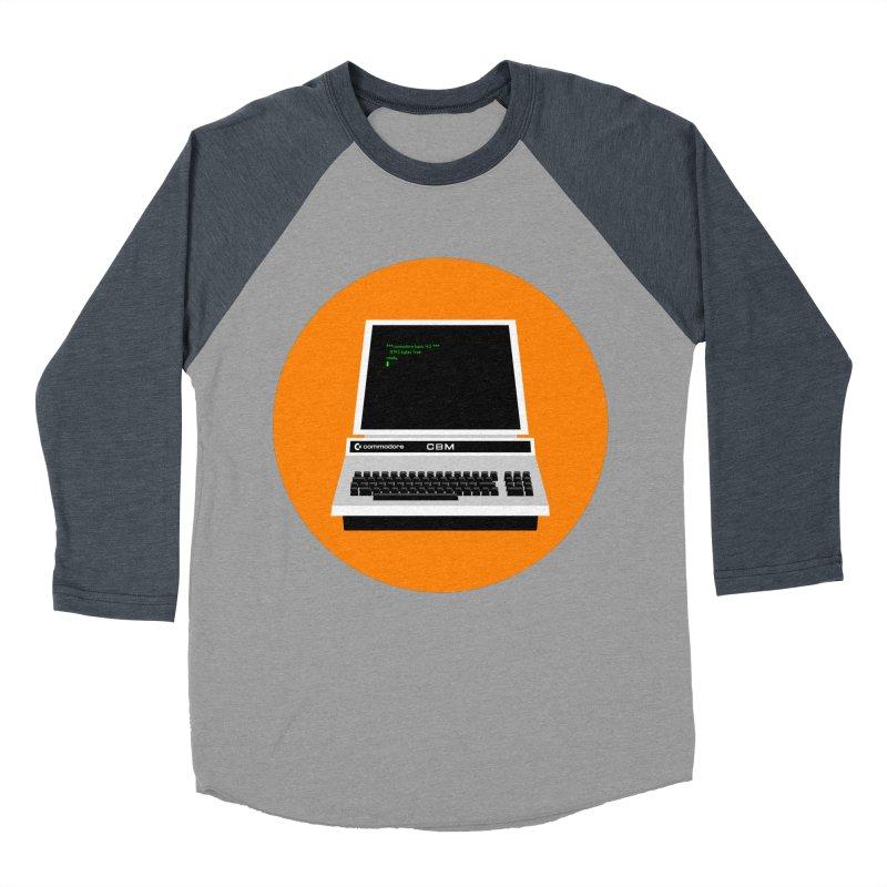 Commodore PET Men's Baseball Triblend Longsleeve T-Shirt by 2pxSolidBlack