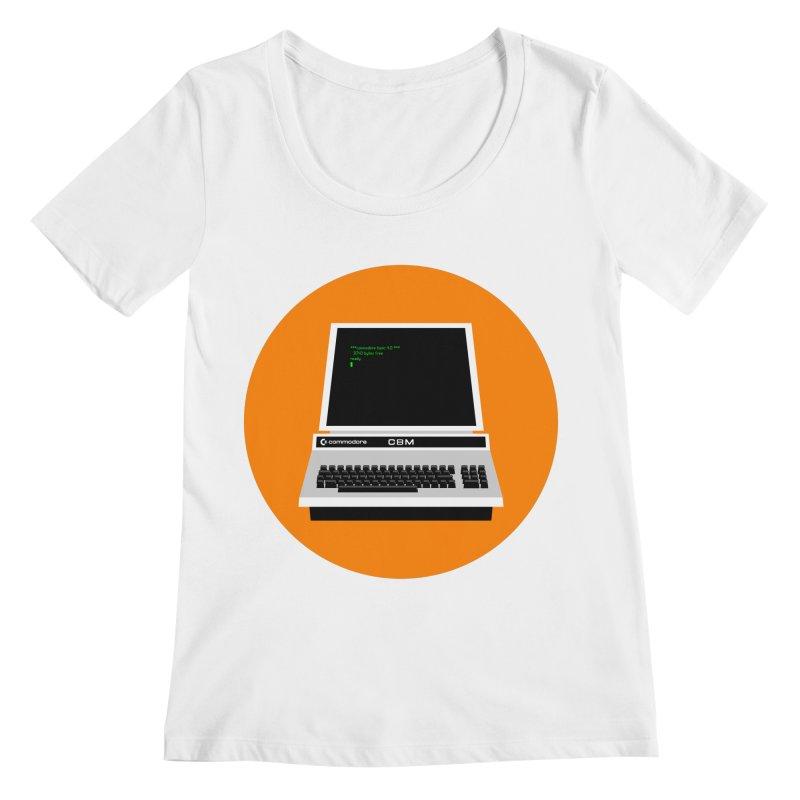 Commodore PET Women's Regular Scoop Neck by 2pxSolidBlack