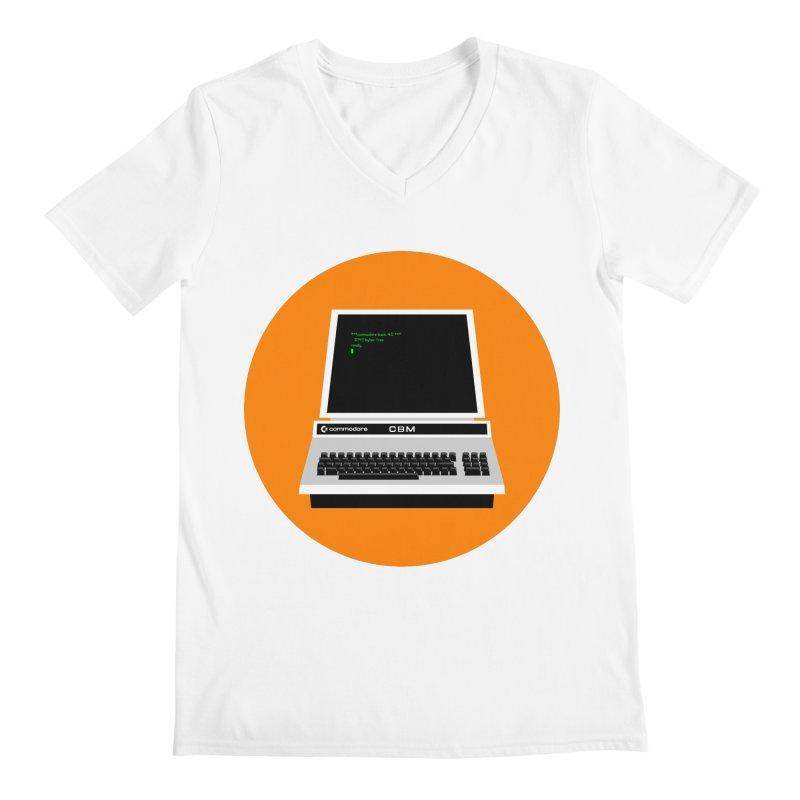 Commodore PET Men's Regular V-Neck by 2pxSolidBlack