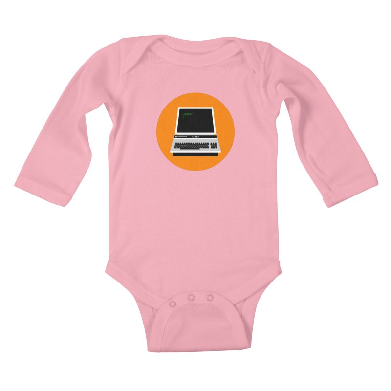 Commodore PET Kids Baby Longsleeve Bodysuit by 2pxSolidBlack