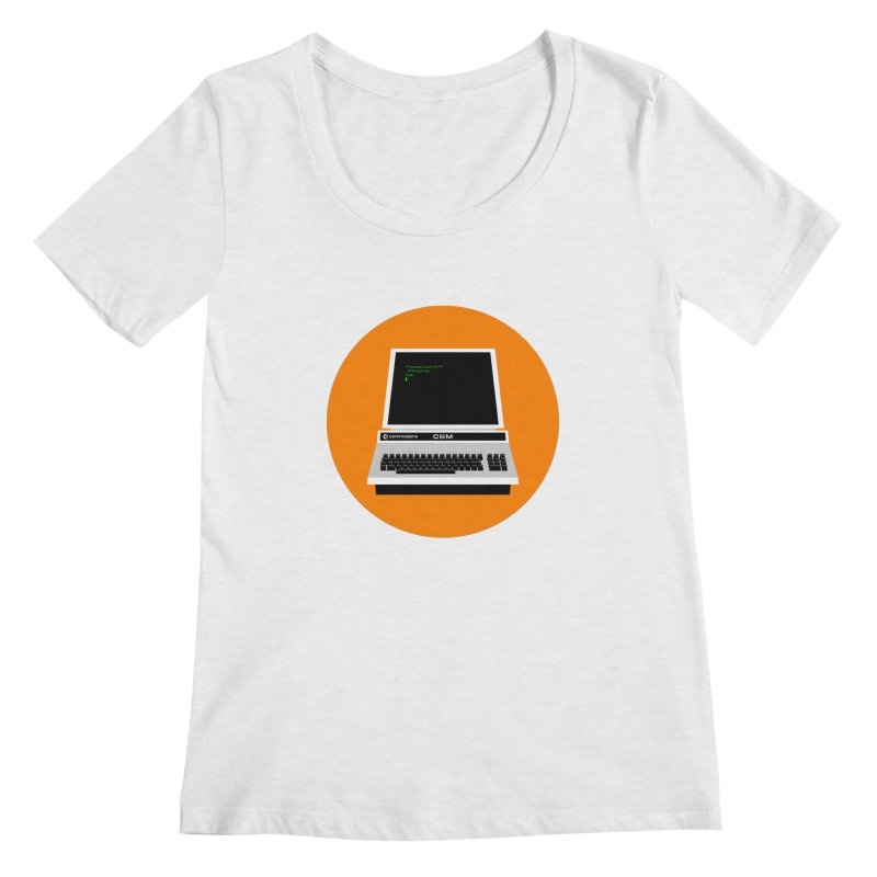 Commodore PET Women's Regular Scoop Neck by 2pxSolidBlack