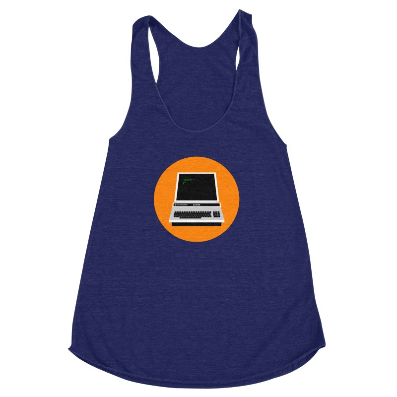 Commodore PET Women's Racerback Triblend Tank by 2pxSolidBlack