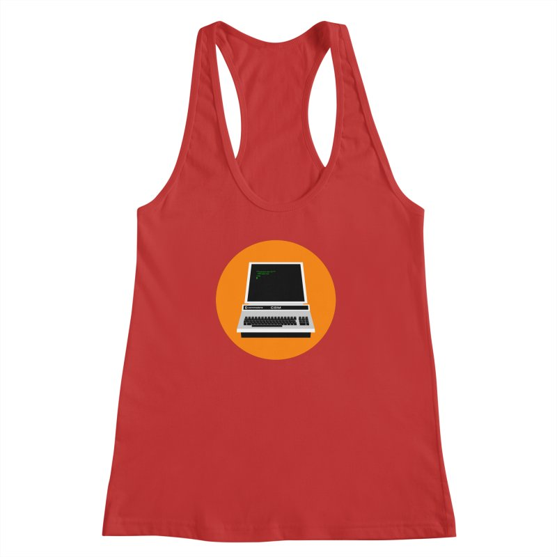 Commodore PET Women's Racerback Tank by 2pxSolidBlack