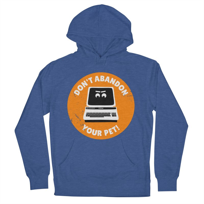 Don't abandon your (Commodore) PET Men's French Terry Pullover Hoody by 2pxSolidBlack